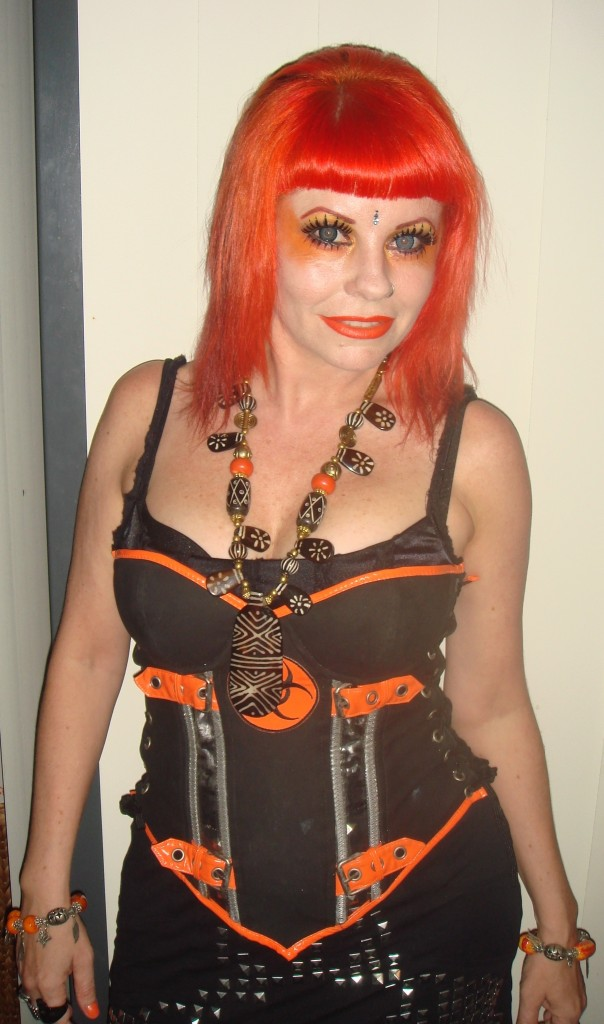 orange gothic hair