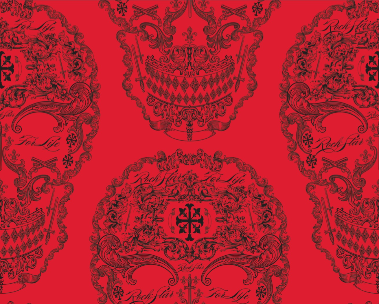 Gothic wallpaper skulls for Red wallpaper for walls
