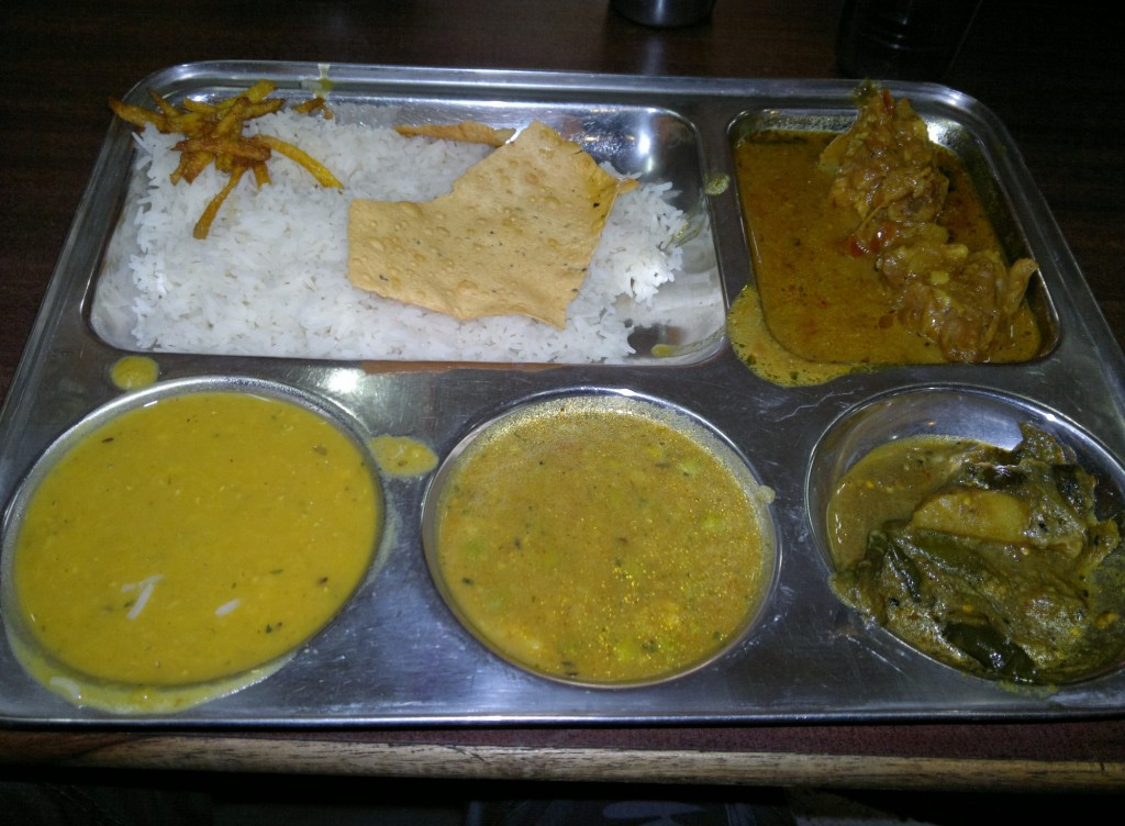 Indian thali plate
