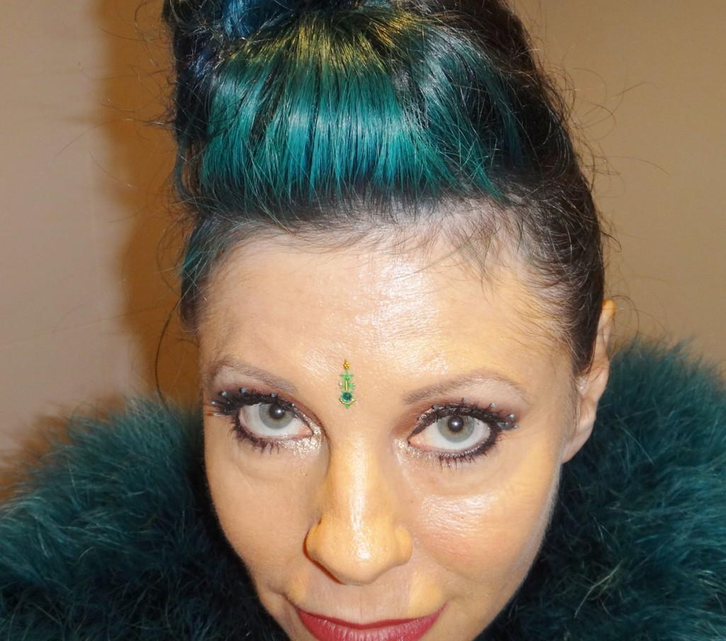 teal vintage hair quiff