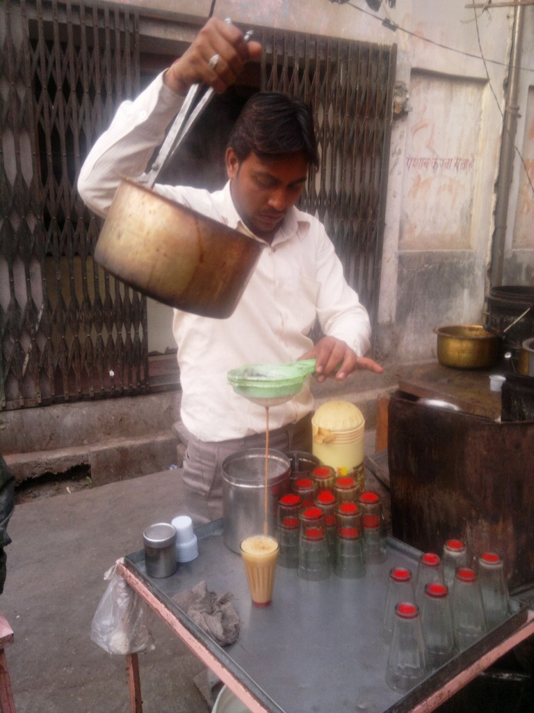Indian chai at teastall