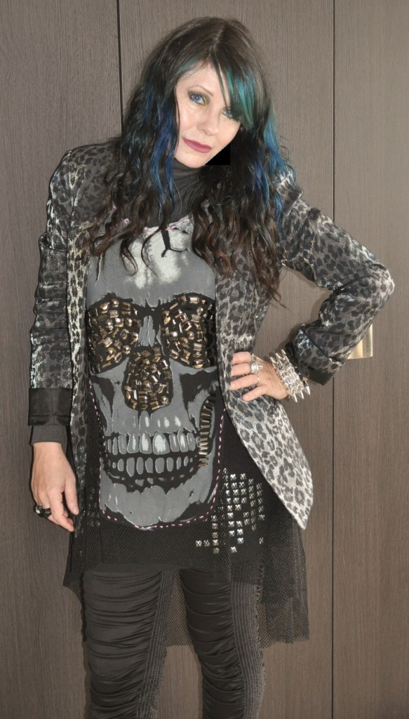 Elyze skull top & Topshop jacket