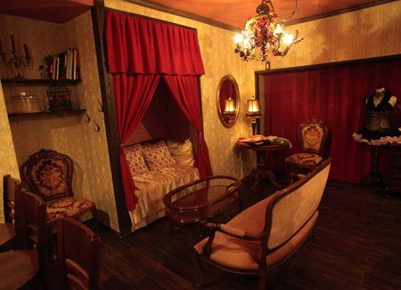 Abilletage corset salon and tea room for Billet salon