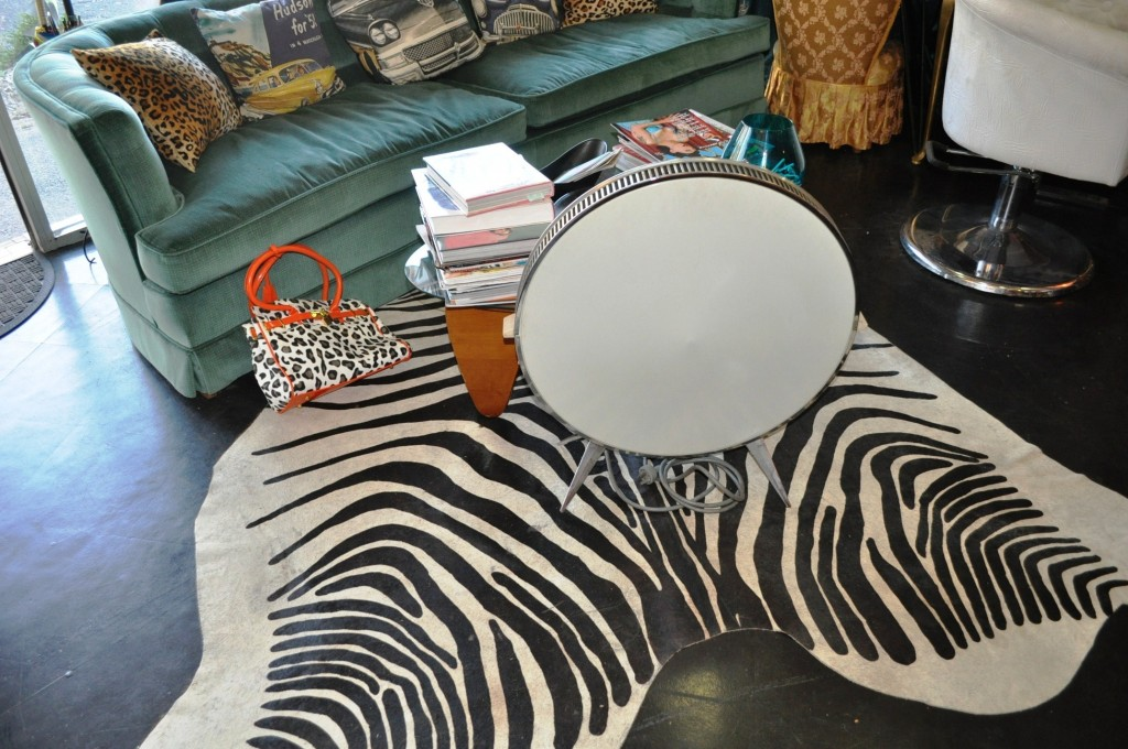 The Leopard Lounge zebra rug