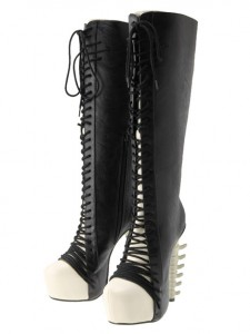 spine heeled boots from Glad News