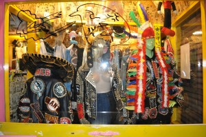 studded punk jackets in Kitakore Dog shopfront