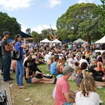 Newtown festival crowd