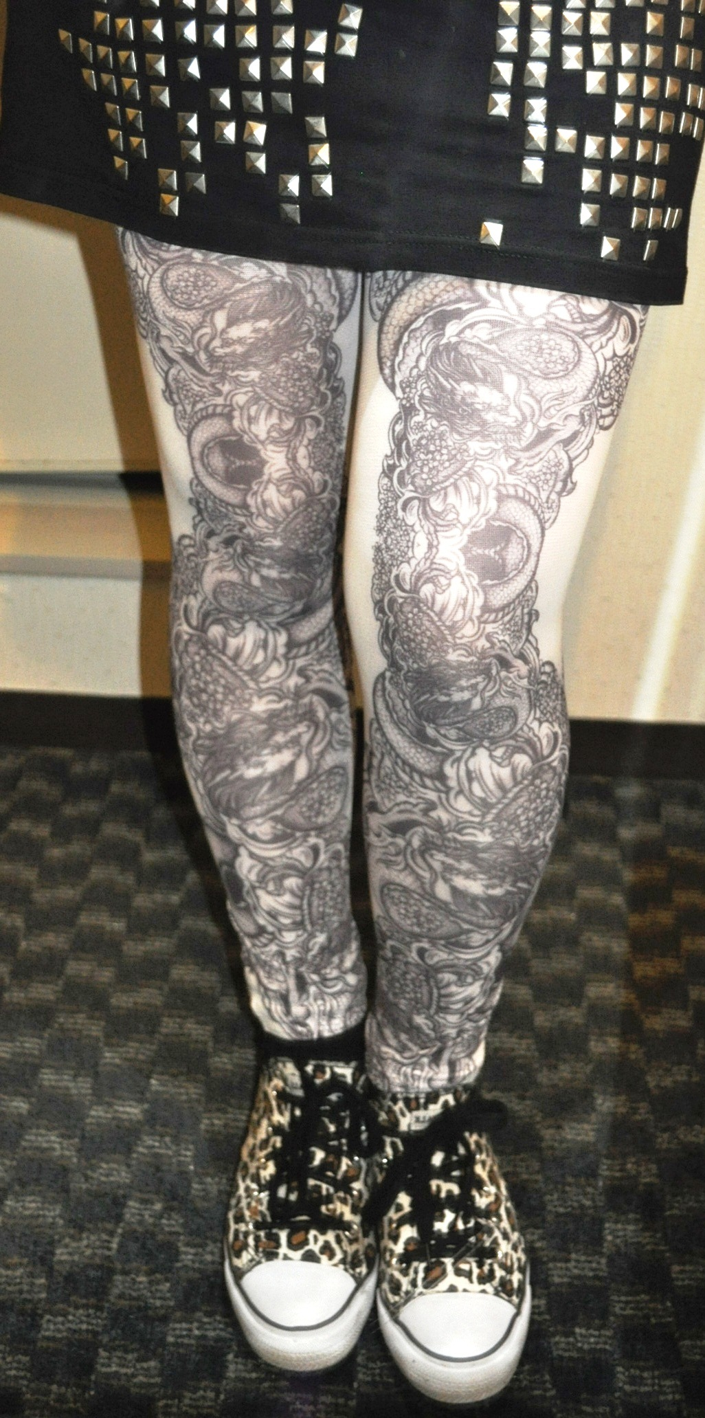 tattoo tights from Shibuya 109