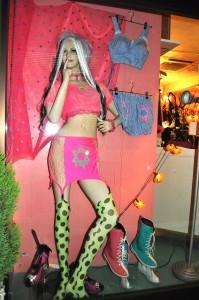 Nude n Rude mannequin shopfront