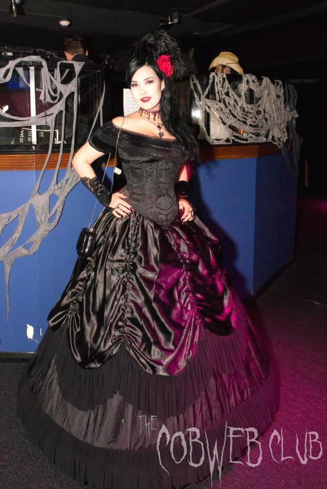 Cobweb Club Victorian lady crinoline skirt