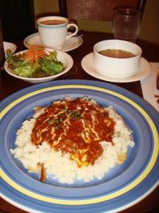 set meal at cafe in Shibuya 109