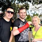 friends at Newtown festival