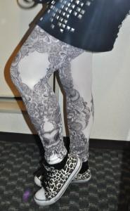 punk goth japanese tattoo tights